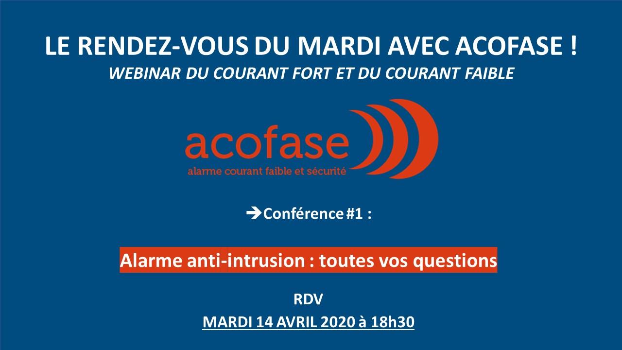 Conférence 1 : alarme anti-intrusion